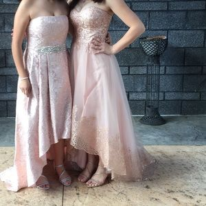 A high low pink prom dress!